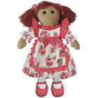 Red Dress Rag Doll - Handmade - Powell Craft - Medium 19cms or Large 40cms Avail
