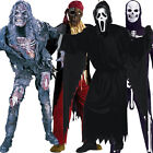 Deluxe Adult Halloween Fancy Dress Costume Mask Wig Outfit New Mens Zombie Dead