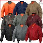 MA-1 Military Type Flight Jacket USAF Bomber Air Force Tactical Jackets XS - 8XL