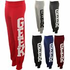 Women's Geek Print Trousers Jogging Bottoms Pants Tracksuit Ladies Joggers