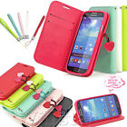 CHERRY LEATHER WALLET CARD FLIP STAND CASE COVER FOR SAMSUNG GALAXY S4 IV I9500