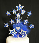 Large Star Birthday Cake Topper - all ages with feathers 13th 16th 18th 21st etc