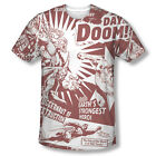 Superman vs. Doomsday Day of Doom Official Sublimation ALL OVER Vintage T-shirt