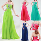 Chic Unique Chiffon Bridesmaid Wedding Ball Gown Evening Prom Party Long Dresses