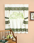 Berkshire Embroidered Floral Complete Kitchen Curtain Set - Assorted Sizes