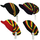 RASTA Reggae Oversized Slouch Peak / Pull On / Knitted Beanie Cap Hat