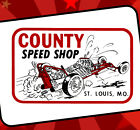 County Speed Shop St Louis Vintage Style Drag Racing T Shirt Speed Shop Rat Rod