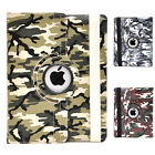 Camouflage 360° Rotatable PU Leather Luxury Case Cover for Apple iPad 2 3 4