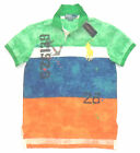New/Nwt RALPH LAUREN Mens BLOCK Multi COLOUR' BIG PONY Polo Shirt M/L/XL/XXL