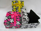 QUALITY LARGE FLOWER DESIGN JEWELLERY WATCH BRACELET BOW GIFT BOX PADDED INSERT