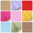 POLKA DOTS 3MM 100% COTTON FABRIC - CRAFT BUNTING QUILTING SHABBY CHIC