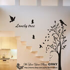 Birds Tree Branch Removable Wall Stickers Wall Decals Quote Kids Art Mural Decor