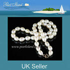 9CT GOLD GENUINE WHITE FRESHWATER PEARL NECKLACE by Pearl Island