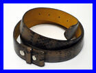 NEW - 100% LEATHER SNAKESKIN SNAKE SKIN LOOK - DETACHABLE BUCKLE - SNAP ON BELT