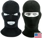Black Wintuck Face Mask Cold Weather Winter Facemask Warm Head Covers