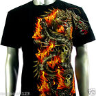 RC Survivor T-Shirt Biker Tattoo WB11 Sz M L XL XXL Dragon Skull Street Rock Vtg