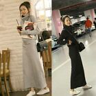 Womens Suits Hoodie Long Sleeve Zipper Casual Sport Hip Package Slit Maxi Skirts