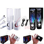 2 x Dancing Water LED Music Fountain Jet Light Speakers For iPod iPhone iPad PC