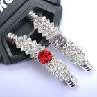 New CURVED Silver CZECH CRYSTAL Rhinestones Pave Tube Bracelets Charms CONNECTOR