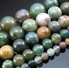 """Natural 15"""" Top Indian Agate Gemstone Round spacer Beads 4mm 6mm 8mm 10mm 12mm"""