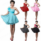 Sweet Bridesmaid Prom Ball Gown Cocktail Evening Party Mini Dress Plus Size 4-18