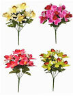 Artificial Flowers Orchids Gypsophillia 35cm 8 Head Bunch Orchid Memorial Home