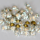 144/288/720/1440x Glass Round Rhinestone Pointed Foiled Back Crystal Color 1-8mm