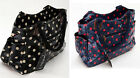 Retro Faux Leather Oil Cloth Polka Holdall Handbag Shopping Tote Bag