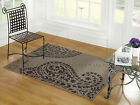SMALL - LARGE GREY PAISLEY PATTERNED SOFT CHEAP BUDGET RUG RUNNER SALE