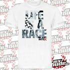 CROSSKRANK Herren T-Shirt - LIFE IS A RACE - weiß