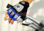 New Cycling MTB / Road Bike Bicycle Wearable Half Finger Glove Blue size M/L/XL