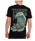 Lucky 13 shirt bustin boards surfing zombie lowbrow rockabilly black S-4XL