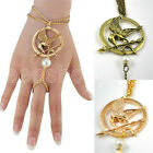 1PC New Hunger Game Mockingbird Arrow Pendant Key Chain Brooch Pin Bracelet Ring
