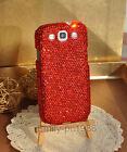 Hot Red Swarovski Element Crystal Cover Case For Samsung Galaxy S3 i9300/S4 9500