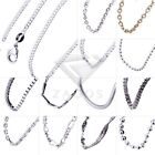 Wholesale Solid Silver Necklace Pendant Box Snake Ball Curb Cable Ripple Chain