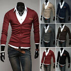 Herren Strick Sweatjacke Strickjacke Sweater Herrenpullover Pulli Sweatshirt