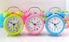 3 inch Color Flower Metal Fresh Twin Double Bell Desk Table Alarm Clocks Clock