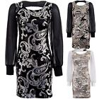 Women's Sexy Party Long Sleeve Ladies Black Gold Silver Chiffon Bodycon Dress