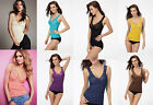 Colorful New Sexy Women Slim Fit Lace Hollow-Out Camisole Sleeveless Vest Tops