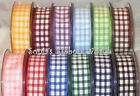 BERISFORDS 25MM GINGHAM CHECK RIBBON - 12 COLOURS - 4 LENGTHS 2, 5, 10, & 20MTRS