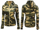 SWEAT A CAPUCHE PULL GILET ZIPPE FEMME CAMOUFLAGE ARMY LOOK T.S M L XL