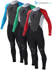 Odyssey 3mm Wetsuit Men's Full Steamer Titanium Kayak Surf Dive Wet Suit S-XL