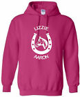 KIDS HORSE RIDING HOODIE HORSESHOE HOODY HORSERIDING HOODED SWEAT AGES 5-15