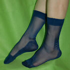 Lots Men's Sheer Causal Dress Suit Socks Sheer See Through Soft Men's Thin Pure