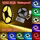 3528 /5050 5M  7colors 300 SMD /RGB 12V LED Strip Light  Roll Waterproof IP65 US