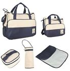 5pc Baby Changing Diaper Nappy Bag Mummy Mother Handbag multifunctional Bags Set