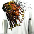 Artful Couture T-Shirt Sz M L XL XXL Lion Headphone Tattoo Extreme Graffiti AW18