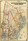 1899 WESTCHESTER COUNTY SCARSDALE MT VERNON NEW YORK WALL MAP  Largest Sizes