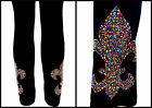 PLUS SIZE FULL-LENGTH LEGGINGS EMBELLISHED MARDI GRAS SHINY FLEUR DE LIS