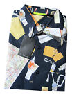 "Paul Smith ""PS"" Navy Short Sleeve ""Travel Map"" shirt  in sizes M or L"